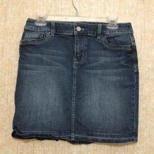 White House Black Market Denim Skirt